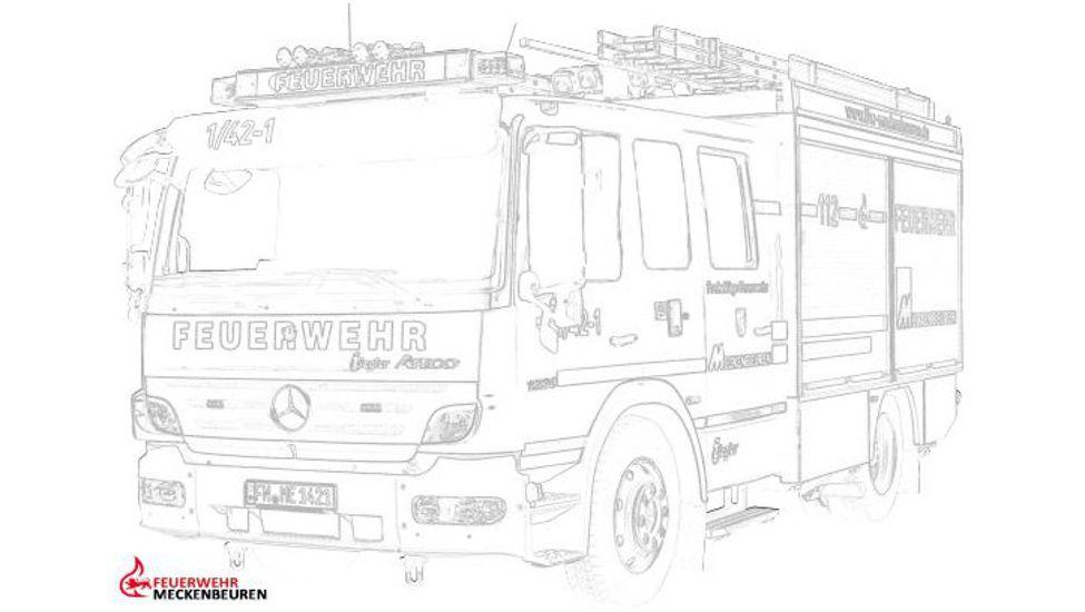 Ausmalbilder | Feuerwehr Meckenbeuren